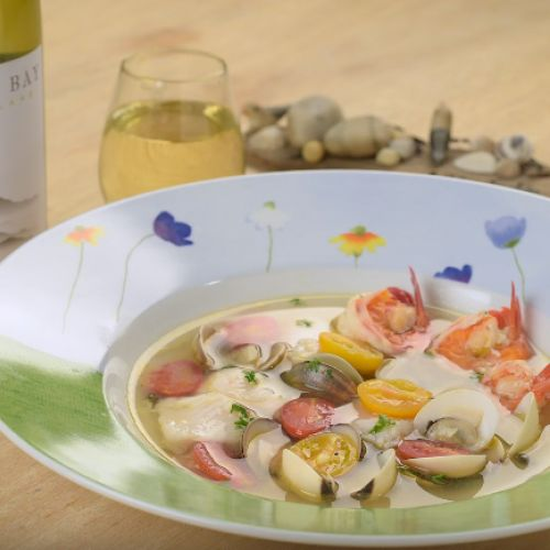 Seafood in White Wine Broth