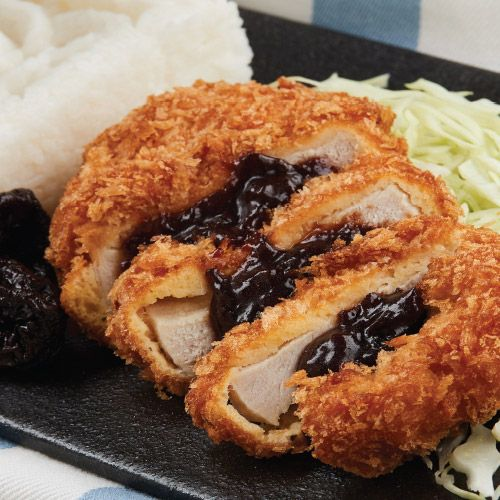 Breaded Pork Chops with Prune Sauce